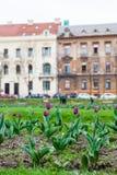 Mooie parken en architectuur van de lagere stad in de stad van Zagreb royalty-vrije stock fotografie