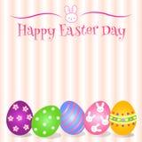 Mooie Pasen-Dagachtergrond en kaart en voorwerp Stock Foto