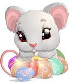 Mooie Pasen-muis vector illustratie