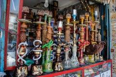 Mooie Perzische waterpijpen op een markt in Shiraz, Iran royalty-vrije stock foto's