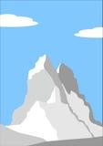 Mooie piek in Alpen vector illustratie