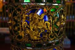Mooie pijler in Wat Sri Rong Muang, Lampang, Thailand Royalty-vrije Stock Foto's