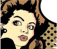 Mooie Pinup-Vrouw met Retro Haarstijl en Make-up Stock Foto's