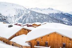 Mooie plaats in de Alpen stock foto's