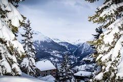 Mooie plaats in de Alpen royalty-vrije stock afbeelding