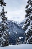 Mooie plaats in de Alpen stock fotografie