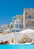 Mooie plaats voor rust in Santorini Stock Afbeelding