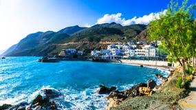 Mooie plaatsen in Kreta - schilder klein visserijdorp Chor royalty-vrije stock fotografie