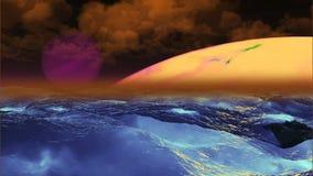 Mooie Planeet, Abstracte Achtergrond royalty-vrije illustratie