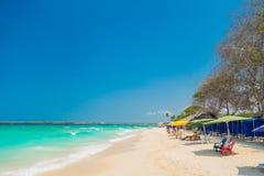 Mooie Playa-Blanca of Wit strand dicht bij Royalty-vrije Stock Afbeelding