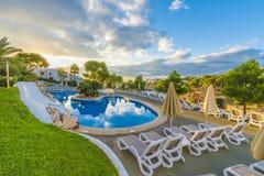 Mooie pool in Cala Dor, Palma Mallorca-eiland, Spanje stock foto's