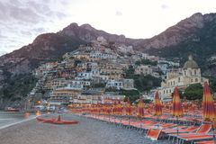 Mooie Positano, Amalfi kust, Italië Stock Afbeeldingen