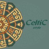 Mooie prentbriefkaar met Keltisch patroon Stock Foto