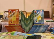 Mooie presentatie van boeken Stock Fotografie