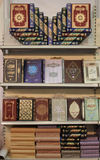 Mooie presentatie van Islamitische boeken Stock Afbeelding
