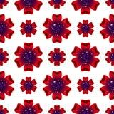 Mooie rad-bloem Naadloos BloemenPatroon Vector Royalty-vrije Stock Foto