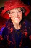 Mooie Red Hat-Dame stock afbeelding
