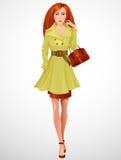 Mooie redhaired vrouw Stock Afbeelding