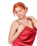 mooie redhead dame stock afbeelding