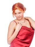 mooie redhead dame stock afbeeldingen