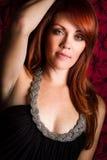 Mooie redhead vrouw Stock Afbeelding