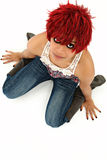 Mooie Redheaded Zwarte stock foto's