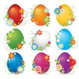 Mooie reeks glanzende eieren Stock Illustratie