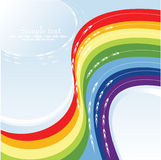 Mooie regenboog Stock Afbeeldingen
