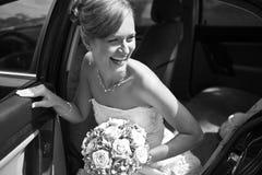 Mooie retro bruid Royalty-vrije Stock Foto