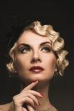 Mooie retro vrouw royalty-vrije stock foto