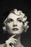 Mooie retro vrouw stock afbeeldingen