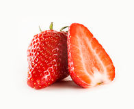 Mooie rijp en fesh aardbeien. Stock Foto's