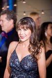 Mooie Rijpe Vrouw bij een Partij royalty-vrije stock fotografie
