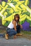 Mooie Rijpe Zwarte met Graffiti (12) stock afbeelding