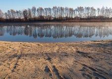 Mooie rivier Desna, de Oekraïne Stock Foto's