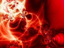 Mooie rode, abstracte achtergrond stock illustratie