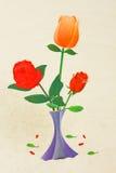 Mooie rode bloem Royalty-vrije Stock Afbeeldingen