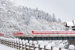 Mooie rode brug Stock Afbeeldingen