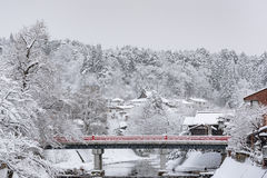 Mooie rode brug Royalty-vrije Stock Afbeelding