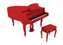 Mooie rode grote piano Stock Foto's