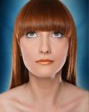 Mooie rode haarvrouw Royalty-vrije Stock Foto's