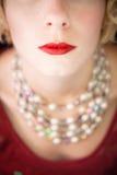 Mooie rode lippen! stock afbeelding
