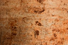 Mooie roesttextuur als achtergrond van de metaalplaat royalty-vrije stock afbeelding