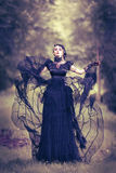 Mooie, romantische gotische gestileerde vrouw Royalty-vrije Stock Fotografie