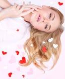 Mooie romantische vrouw Royalty-vrije Stock Foto's