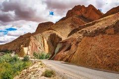 Mooie Rose Valley - Vallee des Roses, dichtbij Ouarzazate, Marokko stock afbeelding