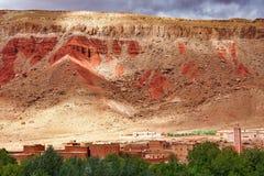 Mooie Rose Valley - Vallee des Roses, dichtbij Ouarzazate, Marokko stock afbeeldingen