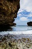 Mooie rotsachtige baai royalty-vrije stock foto's