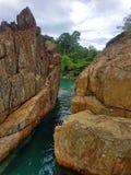 Mooie rotsachtige kust royalty-vrije stock afbeeldingen