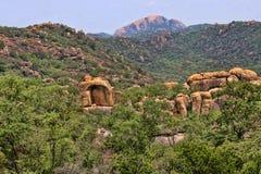 Mooie rotsachtige vormingen van het Nationale Park van Matopos, Zimbabwe royalty-vrije stock fotografie